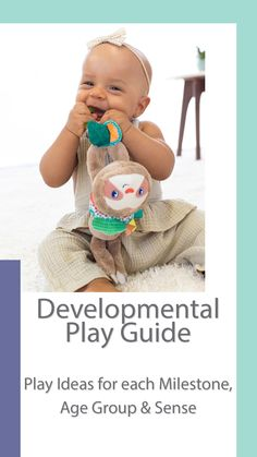 A developmental play guide for you to explore with your little one and pair with recommended toys and activities. Baby Activity Toys, Infant Activities, Activities For Kids, Mom And Baby, Baby Love, Baby Development Milestones, Baby Monitor, Tummy Time, Baby Grows