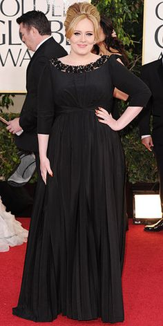 Adele - classy black gown - 2013 Golden Globes