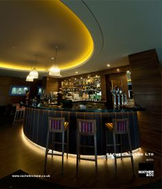 Spike Bar at Mere Golf Hotel working with Mather & Co