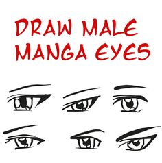 Step by Step tutorial : How to Draw Anime / Manga - Eyes for Boys/Men