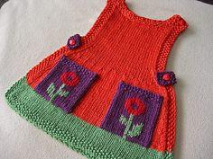 Mädchen & # Strickkleider – Active Fashion - My CMS Knitting For Kids, Baby Knitting Patterns, Crochet For Kids, Baby Patterns, Crochet Baby, Knit Crochet, Knitting Ideas, Girls Knitted Dress, Knit Baby Dress