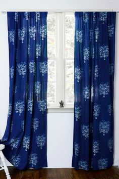 Colored with a traditional dyeing technique of flora, spices and natural materials, these curtains have a story to tell.