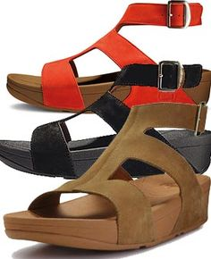 New FitFlops now with ankle strap element.