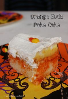 Orange Soda Poke Cake ...w/the orange color this is a great cake for fall or Halloween parties or pot lucks.