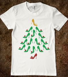 High Heel Shoes Christmas Tree T-shirt - Trendy Tee Shirts - Skreened T-shirts, Organic Shirts, Hoodies, Kids Tees, Baby One-Pieces and Tote Bags