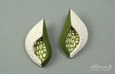 structure 5/2 - post earrings by way of clay, via Flickr
