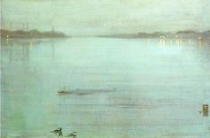 Nocturne, Blue and Silver: Chelsea by James McNeill Whistler