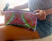 Ethnic Vintage style Hmong Tribe purse Bag ,Wristlet Clutch  Thailand