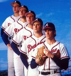 The 1993 Braves starting rotation.