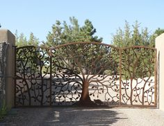 Iron and Steel Tree Gate.