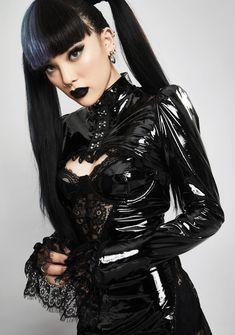 Witch Fashion, Latex Fashion, Dark Fashion, Gothic Fashion, Steampunk Fashion, Emo Fashion, Hot Goth Girls, Gothic Girls, Lace Shrug