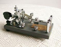 Vintage Vibroplex Telegraph Lightning Bug Key 1956. $195.00, via Etsy.