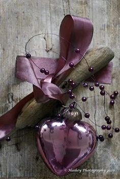 purple glass heart...Haikeys Love of Living