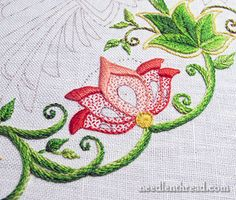 Secret Garden Embroidered Flowers, Colors & Stitches via Mary Corbet