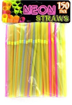 Neon Party Bending Straws Case Pack 25