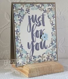 Earn Stampin' Up! FREE Botanicals For You stamp set during Sale-A-Bration 2016. Debbie Henderson, Debbie's Designs.