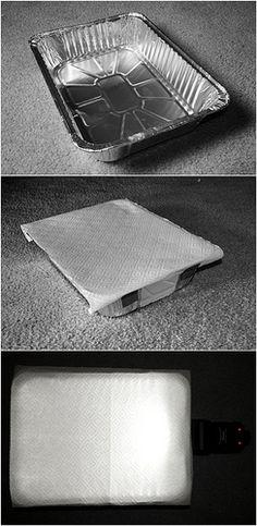 como hacer de algo inutil (como una asadera) algo útil (como un difusor de luz)