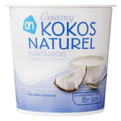 AH Creamy kokos naturel van Albert Heijn Lean Meals, Muesli, Fodmap, Sugar Free, Whiskey, Dairy Free, Food Porn, Good Food, Coconut