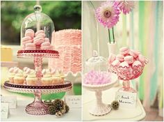 love the bell jars....not to mention the macaroons!