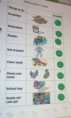 morning schedule - Re-pinned by #PediaStaff.  Visit http://ht.ly/63sNt for all our pediatric therapy pins