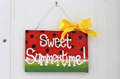 Hand Painted Summer Wooden Sign by tamercer on Etsy, $30.00