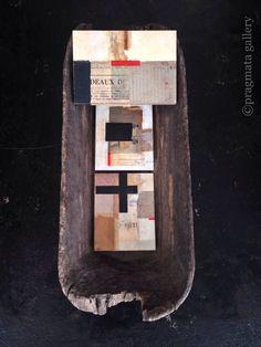 """""""Treasure Chest"""" Collage art by Yoko Inoue.   「宝箱」 コラージュ、 井上陽子。#pragmata"""