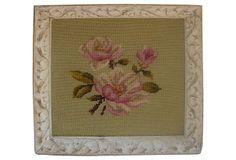 Framed Floral Needlepoint on OneKingsLane.com