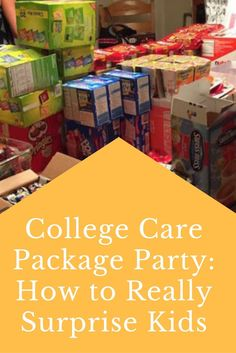 College Care Package Party: How to Really Surprise Kids
