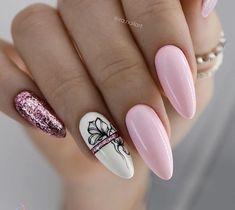 Matte Pink Nails, Pink Nail Art, Metallic Nails, Oval Nails, Green Nails, Halloween Acrylic Nails, Fall Acrylic Nails, Stylish Nails, Trendy Nails