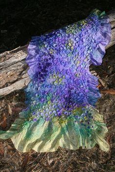 Rae Woolnough, Textile Artist. Forest Undergrowth. #fibre #felt #textile #handmade #handcrafted #artist #australianart #home #decor