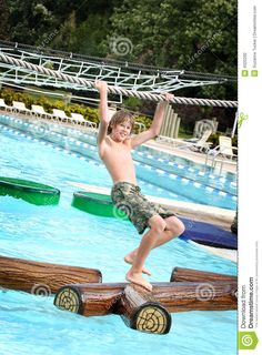 Boy At A Waterpark Stock Photography - Image: 4320292