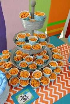 Sharks and surfing birthday party food! See more party planning ideas at CatchMyParty.com! Beach Party Foods, Kid Birthday Party Food, Moana Birthday Party Theme, Kids Beach Party, 7th Birthday, Luau Party, Mermaid Birthday, Summer Birthday, Birthday Ideas