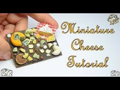 (362) Miniature Cheese Tutorial-Polymer Clay - YouTube