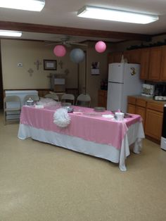 Baby shower main table