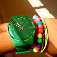 Swatch - I get all nostalgic just looking at this photo.