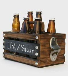 Rustic Wood 6-Pack Beer Carrier