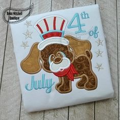 4th of July Dog Applique - 3 Sizes! | What's New | Machine Embroidery Designs | SWAKembroidery.com Beau Mitchell Boutique