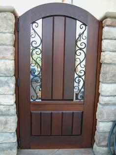 Metal Fence Gates, Iron Garden Gates, Wooden Gates, Front Gates, Wrought Iron Gates, Entrance Gates, Gate Wall Design, Front Gate Design, Fence Design