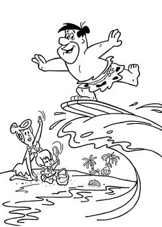 Flintstones Coloring Page. I had so many coloring books and I do ...