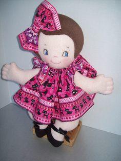 Cloth Doll PDF Pattern Cutie Pie Soft Pancake 15 by PeekabooPorch, $9.00