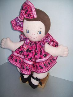 Cloth Doll PDF Pattern Cutie Pie Soft Pancake 15 by PeekabooPorch