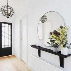 Sarah and jason hallway decorating, hall of mirrors, hallway mirror, fron. Hallway Shelf, Hallway Mirror, Entry Hallway, Hallway Lighting, Wood Shelf, Hall Mirrors, Upstairs Hallway, Decoration Hall, Entryway Decor