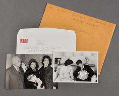 These photos capture the baptism of Caroline Kennedy in December, 1957. (Photo courtesy of John McInnis Auctioneers)