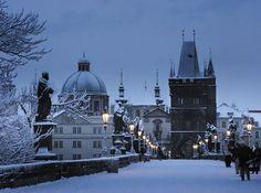 Snowy Night, Prague, Czech Republic - photo via wikipedia