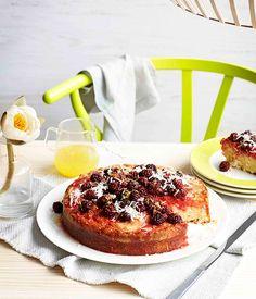 Lemon and blackberry cake :: Gourmet Traveller Magazine Mobile