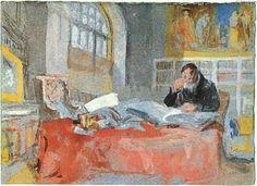 'Atelier', wasserfarbe von William Turner (1789-1862, United Kingdom)