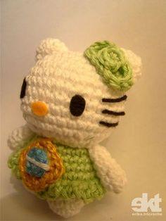 Hoje estréia o Brasil na copa 2010, e para homenagear, uma Hello Kitty, literalmente brasileira!!! rsss.. E junto com essa torcida pela n...