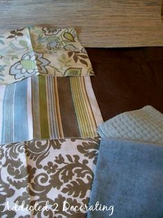Living Room Curtain: Jayda Bramble BH& Gardens (JoAnns), Waverly Sun & Shade Silk Bazaar Mineral