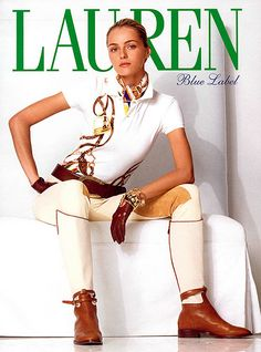 Ralph Lauren Style, Polo Ralph Lauren, Ralf Loren, Valentina Zelyaeva, Fashion Design Classes, Ralph Lauren Womens Clothing, Women's Equestrian, Ralph Laurent, Estilo Preppy