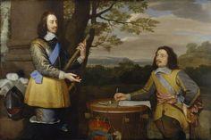 King Charles I; Sir Edward Walker  by Unknown artist oil on canvas, circa 1650
